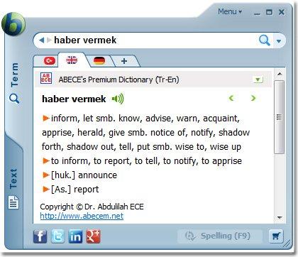 ABECE Sözlük Babylon Ekran Görüntüsü