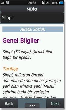 ABECE Sözlük MDict Türkçe Wikipedia Ekran Görüntüsü